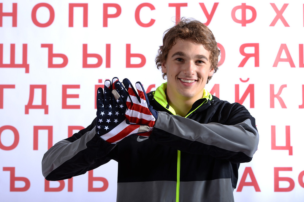 . Freeskier Nick Goepper poses for a portrait during the USOC Media Summit ahead of the Sochi 2014 Winter Olympics on October 1, 2013 in Park City, Utah.  (Photo by Harry How/Getty Images)