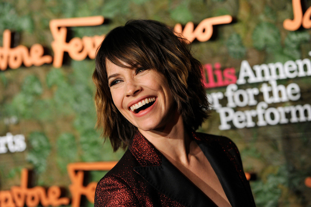 . Actress Evangeline Lilly arrives at the Wallis Annenberg Center for the Performing Arts Inaugural Gala on Thursday, Oct. 17, 2013, in Beverly Hills, Calif. (Photo by Chris Pizzello/Invision/AP)
