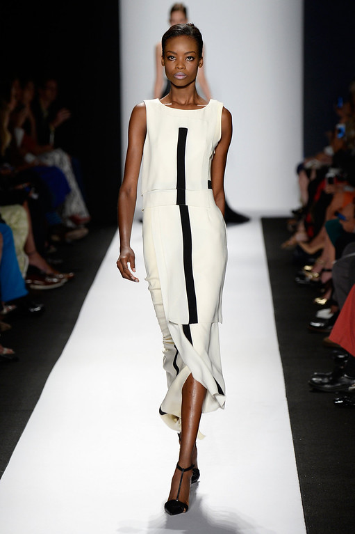 . A model walks the runway at the Carolina Herrera fashion show during Mercedes-Benz Fashion Week Spring 2014 at The Theatre at Lincoln Center on September 9, 2013 in New York City.  (Photo by Frazer Harrison/Getty Images for Mercedes-Benz Fashion Week Spring 2014)