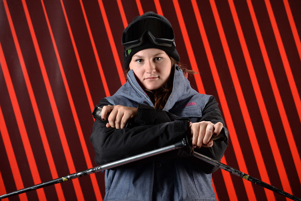 . Freeskier Devin Logan poses for a portrait during the USOC Media Summit ahead of the Sochi 2014 Winter Olympics on October 1, 2013 in Park City, Utah.  (Photo by Harry How/Getty Images)