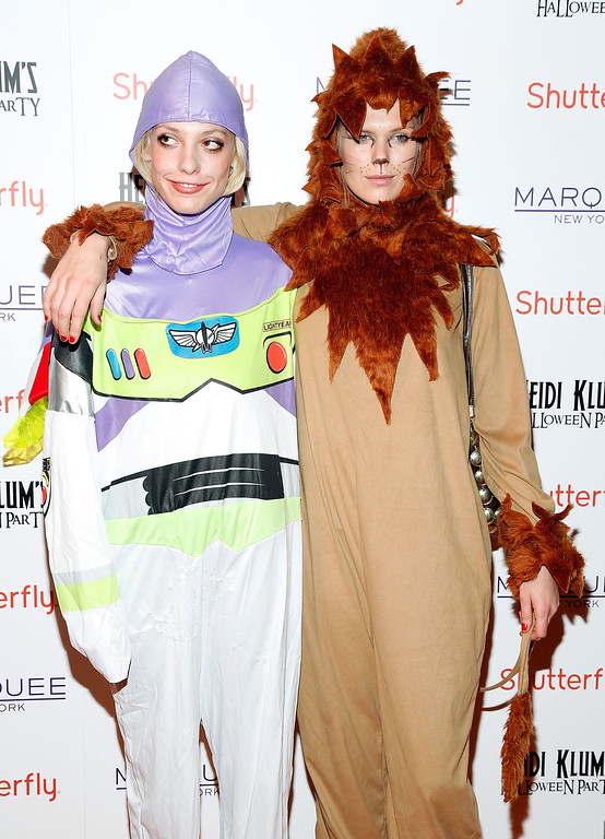 . Cory Kennedy (L) and Alexandra Richards attend Shutterfly Presents Heidi Klum\'s 14th Annual Halloween Party sponsored by SVEDKA Vodka and smartwater at Marquee on October 31, 2013 in New York City.  (Photo by Cindy Ord/Getty Images for Heidi Klum)