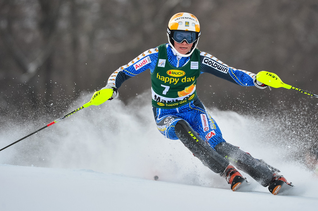 . Sweden\'s Frida Hansdotter competes during the women\'s World Cup slalom at Maribor, on January 27, 2013.   Jure Makovec/AFP/Getty Images