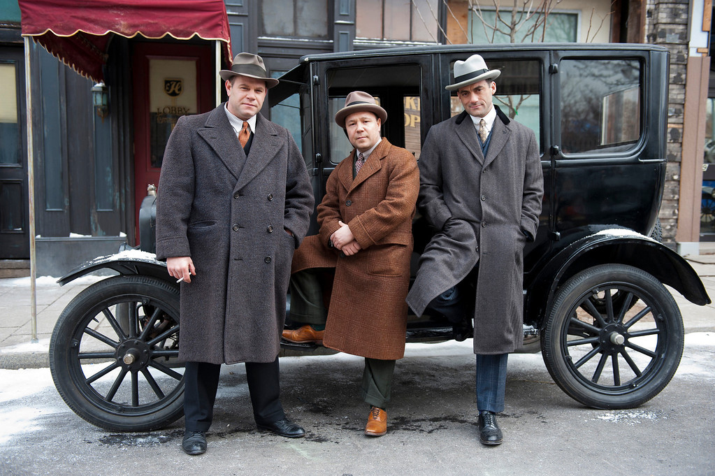 . BOARDWALK EMPIRE episode 37 (season 4, episode 1): Domenick Lombardozzi, Stephen Graham, Morgan Spector. photo: Macall B. Polay