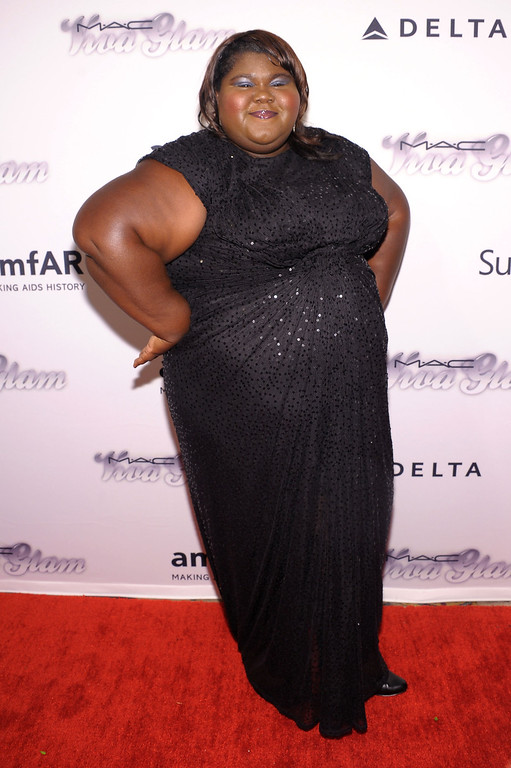 . NEW YORK, NY - JUNE 13: Actress Gabourey Sidibe  attends the 4th Annual amfAR Inspiration Gala New York at The Plaza Hotel on June 13, 2013 in New York City.  (Photo by Michael Loccisano/Getty Images)