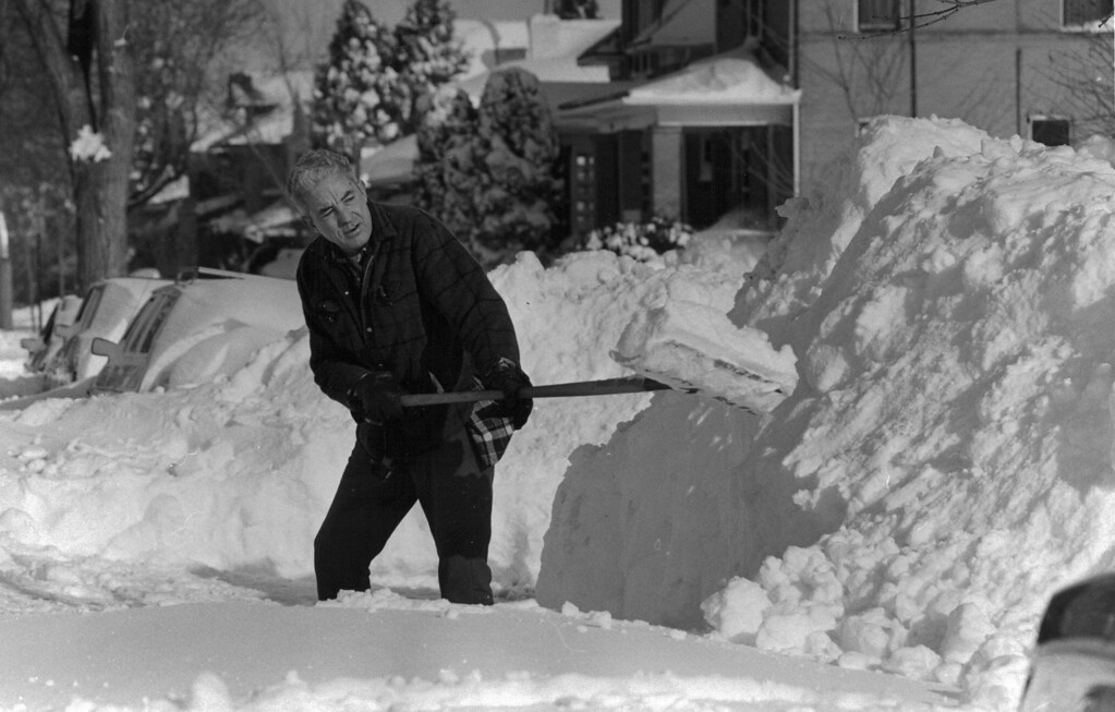 . Digging out after the Blizzard of \'82 in Denver. Denver Post Library Archive