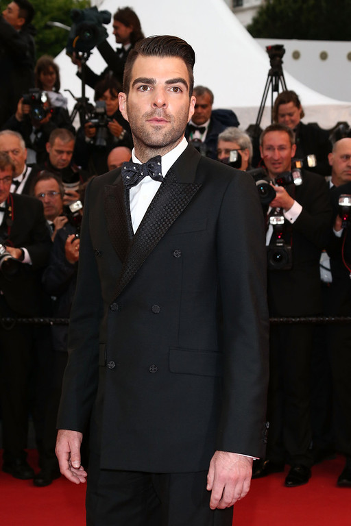 . Actor Zachary Quinto attends the \'All Is Lost\' Premiere during the 66th Annual Cannes Film Festival at Palais des Festivals on May 22, 2013 in Cannes, France.  (Photo by Andreas Rentz/Getty Images)