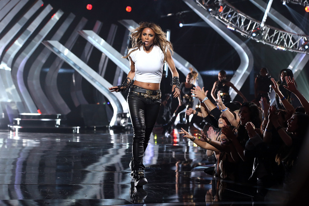 """. LOS ANGELES, CA - DECEMBER 16:  Singer Ciara performs onstage during \""""VH1 Divas\"""" 2012 at The Shrine Auditorium on December 16, 2012 in Los Angeles, California.  (Photo by Christopher Polk/Getty Images)"""