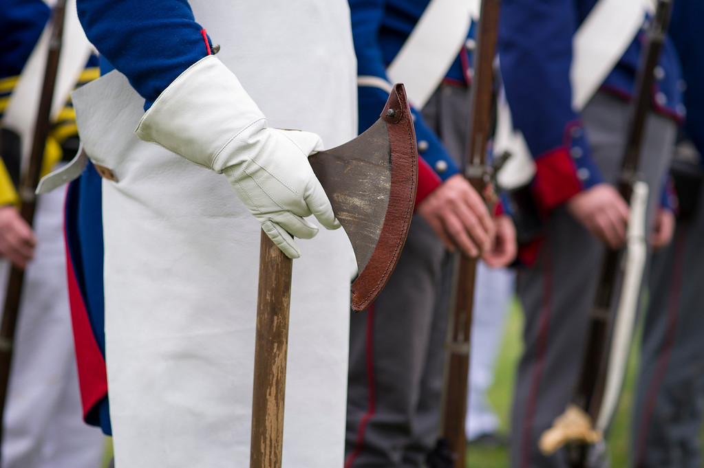 . Historical society enthusiasts from Germany in the role of Prussian line infantry prepare to commemorate the 200th anniversary of The Battle of Nations on October 18, 2013 in Leipzig, Germany.  (Photo by Jens Schlueter/Getty Images)