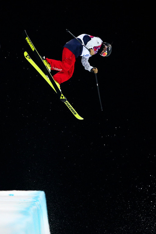 . Annalisa Drew of the United States competes in the Freestyle Skiing Ladies\' Ski Halfpipe Qualification on day thirteen of the 2014 Winter Olympics at Rosa Khutor Extreme Park on February 20, 2014 in Sochi, Russia.  (Photo by Cameron Spencer/Getty Images)