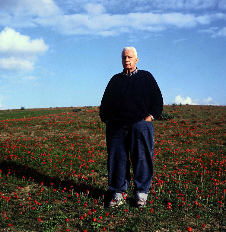 . An undated photograph made available in January 2014 of Ariel Sharon, a former general, chief of staff, defense minister, agriculture minister and prime minister, on his farm in Shikmim, southern Israel.  EPA/EYAL YITSAH