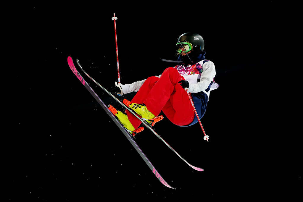 . Brita Sigourney of the United States competes in the Freestyle Skiing Ladies\' Ski Halfpipe Qualification on day thirteen of the 2014 Winter Olympics at Rosa Khutor Extreme Park on February 20, 2014 in Sochi, Russia.  (Photo by Cameron Spencer/Getty Images)