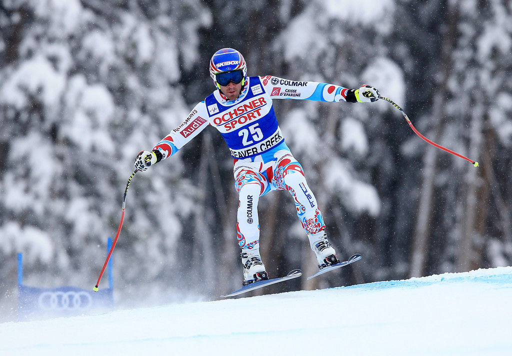 . Thomas Mermillod Blondin of France in action during the 2013 Audi FIS Beaver Creek World Cup Men\'s Super G race on December 7, 2013 in Beaver Creek, Colorado.  (Photo by Doug Pensinger/Getty Images)