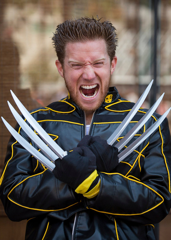 . Cosplayer Tom Roy poses while dressed as comic book character Wolverine during the 2013 San Diego Comic-Con (SDCC) International in San Diego, California July 18, 2013. REUTERS/Fred Greaves