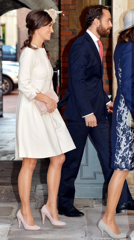 . Pippa and James Middleton arrive at Chapel Royal in St James\'s Palace in central London to attend the Christening of Prince George of Cambridge on October 23, 2013.  AFP PHOTO/POOL/JOHN STILLWELL/AFP/Getty Images
