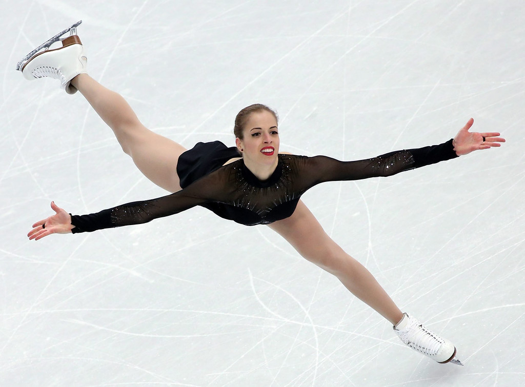 . Carolina Kostner of Italy performs in the Figure Skating Women\'s Free Skating event at Iceberg Skating Palace during the Sochi 2014 Olympic Games, Sochi, Russia, 20 February 2014.  EPA/BARBARA WALTON