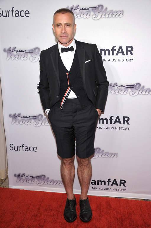 . NEW YORK, NY - JUNE 13:  Designer Thom Browne attends the 4th Annual amfAR Inspiration Gala New York at The Plaza Hotel on June 13, 2013 in New York City.  (Photo by Michael Loccisano/Getty Images)