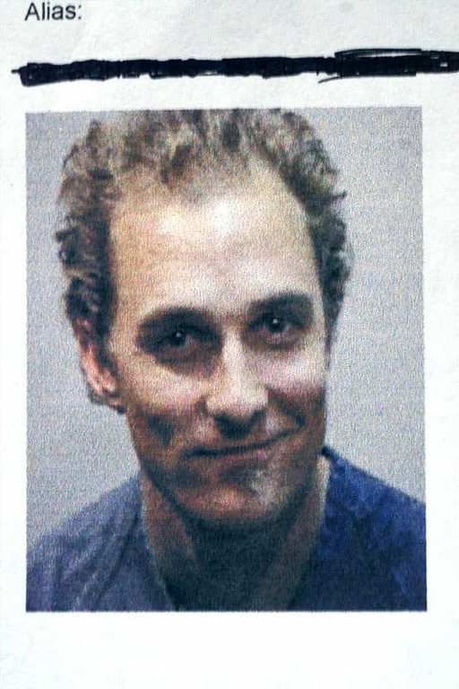 . Actor Matthew McConaughey, 29, shown in this Austin Police Department booking photo, was arrested Monday, Oct. 25, 1999, in Austin, Texas. During a court appearance Monday, two drug-related charges were dismissed by Municipal Judge Penny Wilcov and McConaughey faced only a charge of resisting transportation, a misdemeanor. He was released on $1,000 bond. McConaughey had initially been booked on suspicion of possession of marijuana, possession of drug paraphernalia and resisting transportation after an early morning disturbance at his home in which police said he was dancing naked and playing the bongo drums. (AP Photo/Austin Police Department)