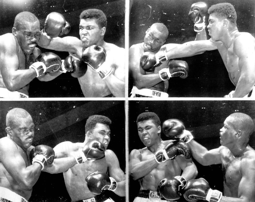 . One Good Turn Deserves Another Cassius Clay was the winner by a unanimous decision over Doug Jones in Wednesday night\'s fight in New York, but it wasn\'t all one-sided. In top photos, Jones was on the receiving end of a couple of hard Clay punches, but got his turn in the bottom picture. Clay rallied in the final two rounds to get 18th win in unbeaten string. 1963. Credit: AP