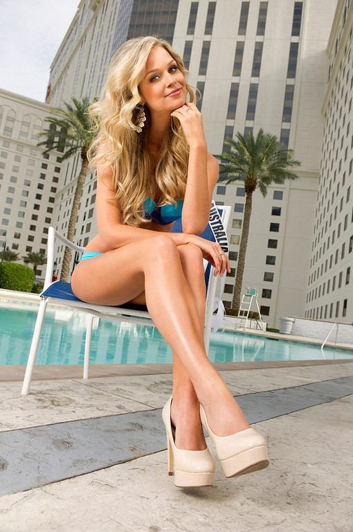 . Renae Ayris of Australia poses for photographs as part of preparations for the Miss Universe 2012 pageant in Las Vegas, Nevada December 4, 2012. The pageant, will be held on December 19, 2012 at the Planet Hollywood Resort & Casino in Las Vegas. REUTERS/Valerie Macon/Handout