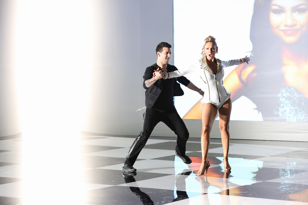 ". Mark Ballas and Kym Johnson from ""Dancing with the Stars.\"" This season\'s dynamic lineup of stars  will perform for the first time on live national television with their professional partners during the two-hour season premiere of \""Dancing with the Stars,\"" on Monday, March 18 (8:00-10:01 p.m., ET) on the ABC Television Network.  (ABC/Adam Taylor)"