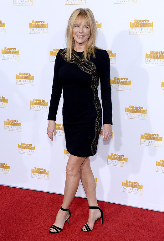 . Model Cheryl Tiegs attends NBC and Time Inc. celebrate the 50th anniversary of the Sports Illustrated Swimsuit Issue at Dolby Theatre on January 14, 2014 in Hollywood, California.  (Photo by Dimitrios Kambouris/Getty Images)