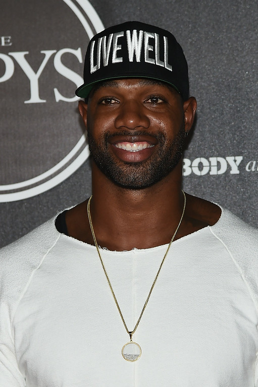 . HOLLYWOOD, CA - JULY 15:  Marcedes Lewis arrives at the ESPN\'s BODY at ESPY\'s Pre-Party at Lure on July 15, 2014 in Hollywood, California.  (Photo by Michael Buckner/Getty Images)