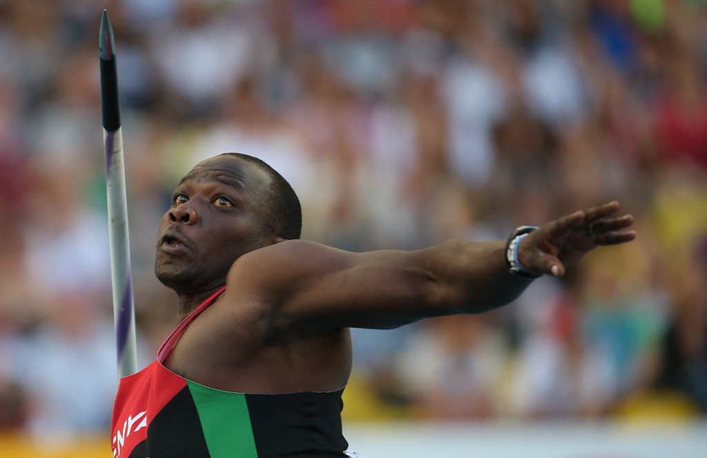 . Kenya\'s Julius Yego competes in the men\'s javelin throw final at the 2013 IAAF World Championships at the Luzhniki stadium in Moscow on August 17, 2013.   FRANCK FIFE/AFP/Getty Images