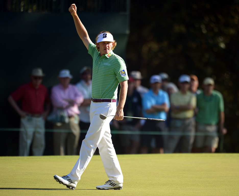. Brandt Snedeker of the US waves during the third round of the 77th Masters golf tournament at Augusta National Golf Club on April 13, 2013 in Augusta, Georgia.  JIM WATSON/AFP/Getty Images
