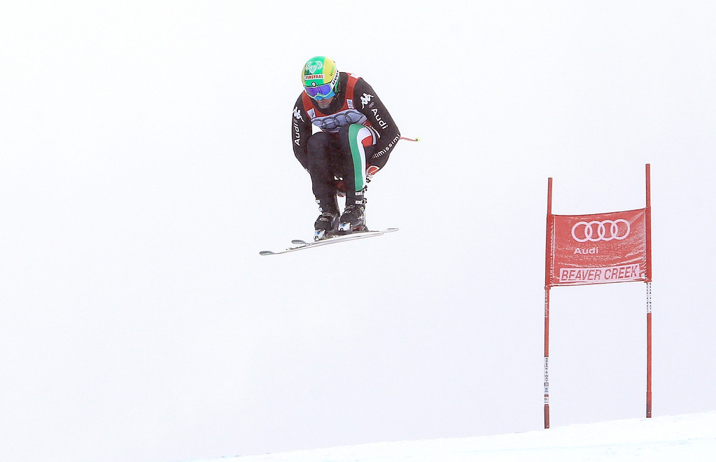 . Dominik Paris of Italy in action during the men\'s downhill race for the Birds of Prey Audi FIS Ski World Cup on December 6, 2013 in Beaver Creek, Colorado.  (Photo by Doug Pensinger/Getty Images)