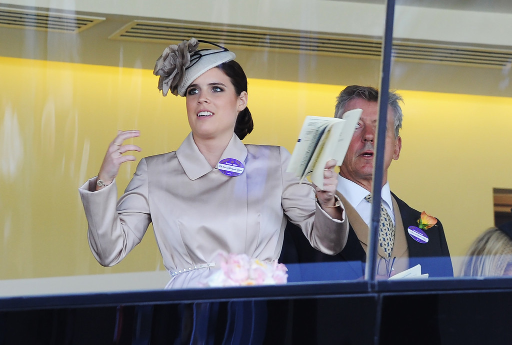 . Princess Eugenie watches a race from the royal box during Day 1 of Royal Ascot at Ascot Racecourse on June 17, 2014 in Ascot, England.  (Photo by Stuart C. Wilson/Getty Images)