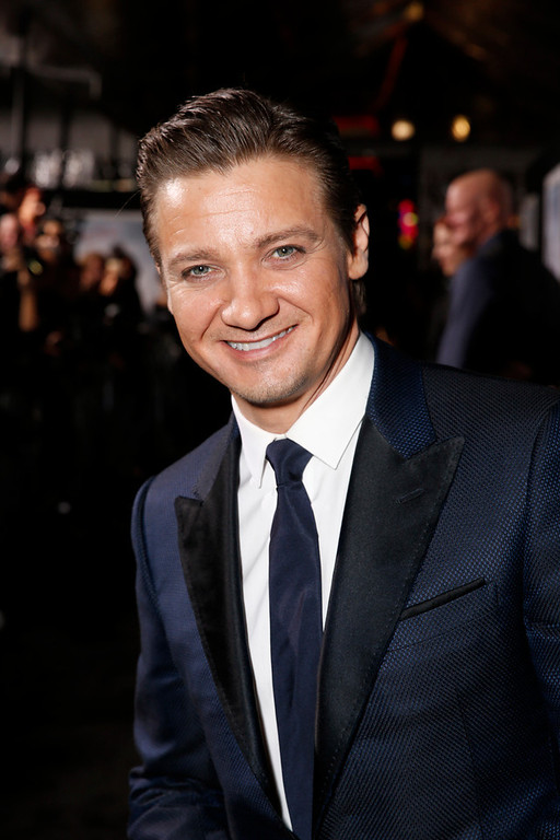 ". Jeremy Renner arrives at the premiere of ""Hansel & Gretel Witch Hunters\"" on Thursday Jan. 24, 2013, in Los Angeles.  (Photo by Todd Williamson/Invision/AP)"