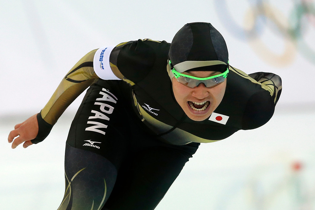 . Japan\'s Taro Kondo competes in the Men\'s Speed Skating 1500 m at the Adler Arena during the Sochi Winter Olympics on February 15, 2014. ADRIAN DENNIS/AFP/Getty Images