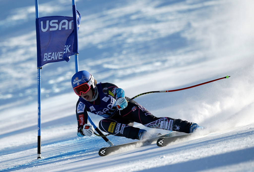 . Laurenne Ross of the USA in action during the FIS Beaver Creek Ladies\' Super G World Cup Race on November 30, 2013 in Beaver Creek, Colorado.  (Photo by Ezra Shaw/Getty Images)
