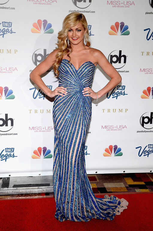 . Dancer Lindsay Arnold arrives at the 2013 Miss USA pageant at Planet Hollywood Resort & Casino on June 16, 2013 in Las Vegas, Nevada.  (Photo by Ethan Miller/Getty Images)
