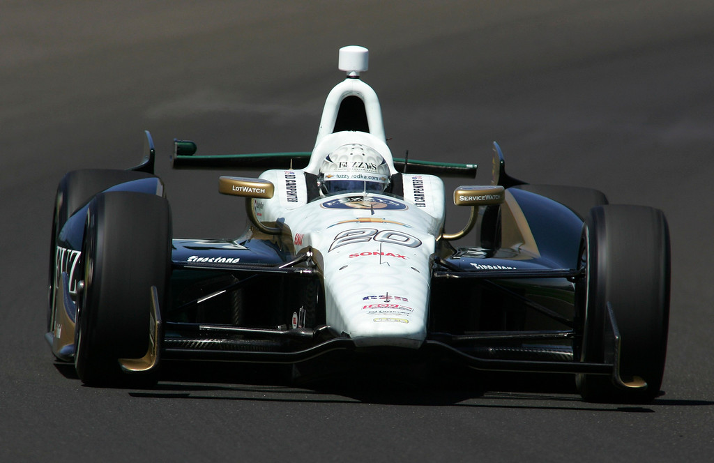 . Ed Carpenter Racing driver Ed Carpenter of the U.S. drives his car on the track during a practice session at the Indianapolis Motor Speedway in Indianapolis, Indiana May 15, 2013. The 97th running of the Indianapolis 500 is scheduled for May 26.  REUTERS/Pat Cocciadiferro