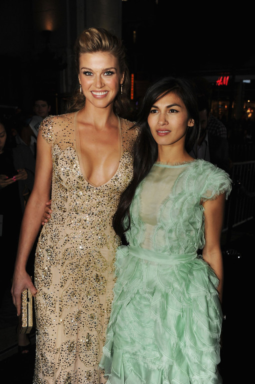 ". Actresses Adrianne Palicki and Elodie Yung attend the premiere of Paramount Pictures\' ""G.I. Joe:Retaliation\"" at TCL Chinese Theatre on March 28, 2013 in Hollywood, California.  (Photo by Kevin Winter/Getty Images)"