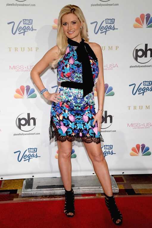 . Model and television personality Holly Madison arrives at the 2013 Miss USA pageant at Planet Hollywood Resort & Casino on June 16, 2013 in Las Vegas, Nevada.  (Photo by Ethan Miller/Getty Images)