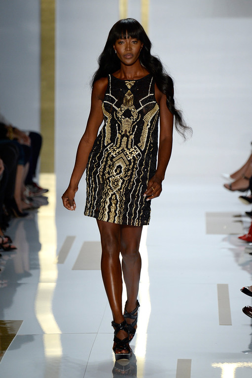 . Naomi Campbell walks the runway at the Diane Von Furstenberg fashion show during Mercedes-Benz Fashion Week Spring 2014 at The Theatre at Lincoln Center on September 8, 2013 in New York City.  (Photo by Frazer Harrison/Getty Images for Mercedes-Benz Fashion Week Spring 2014)