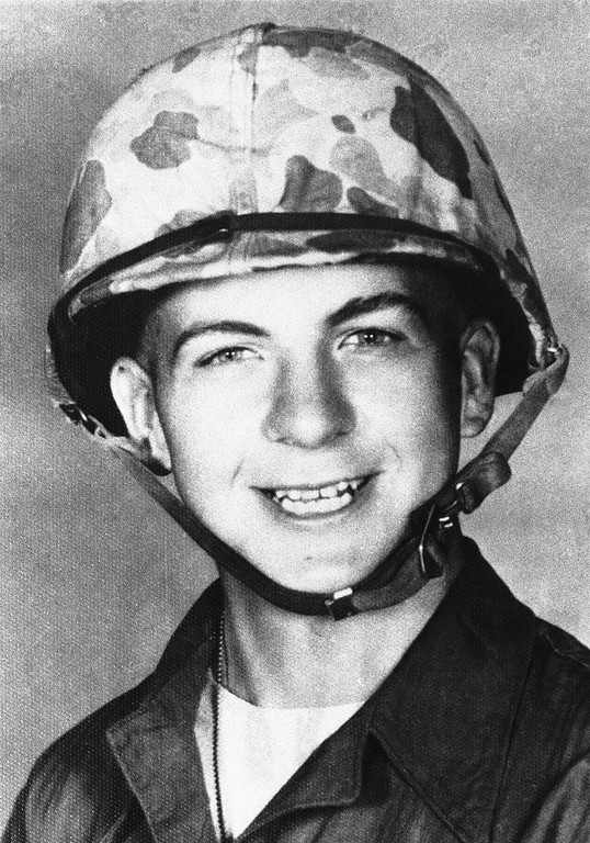 . Lee Harvey Oswald was 19 years old in 1958 when this photo was taken of him while in the U.S. Marines in California. He was soon to be discharged from the service. Associated Press file
