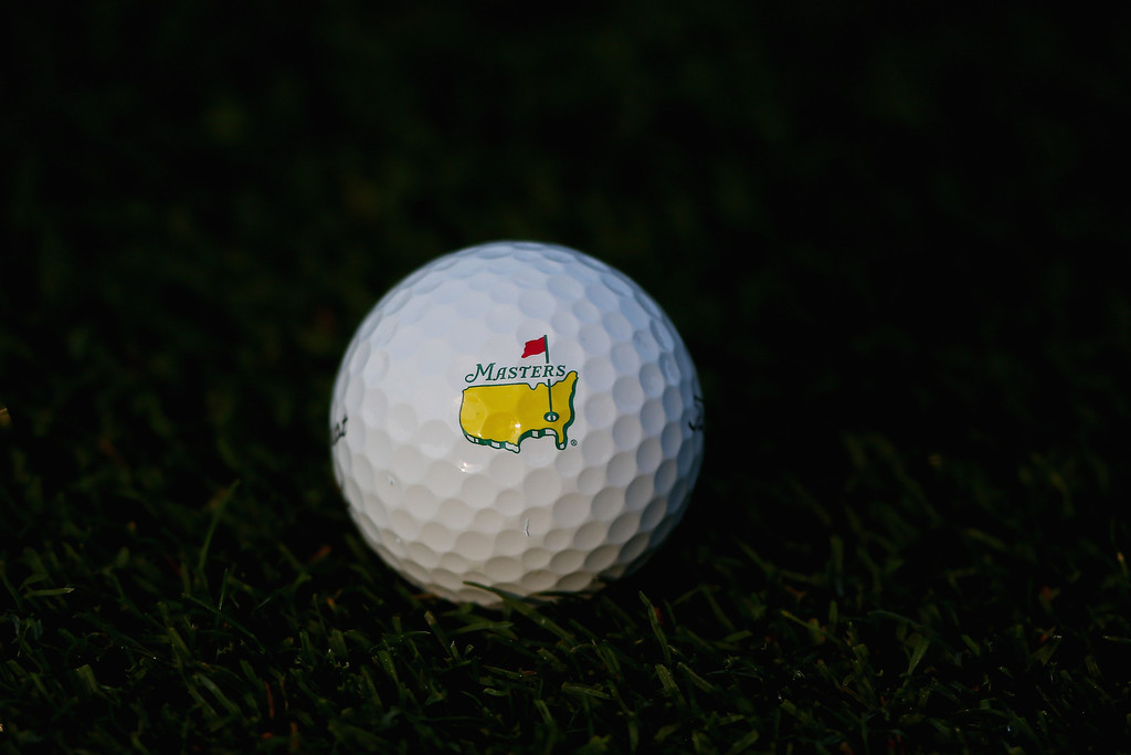 . A Masters golf ball is seen during a practice round prior to the start of the 2014 Masters Tournament at Augusta National Golf Club on April 9, 2014 in Augusta, Georgia.  (Photo by Andrew Redington/Getty Images)