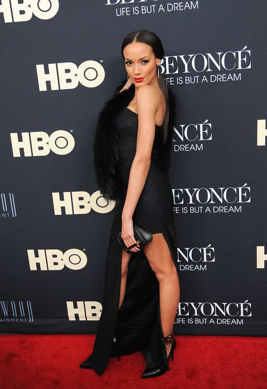 """. Actress Selita Ebanks attend the premiere of \""""Beyonce: Life Is But A Dream\"""" at the Ziegfeld Theatre on Tuesday, Feb. 12, 2013 in New York. (Photo by Evan Agostini/Invision/AP)"""