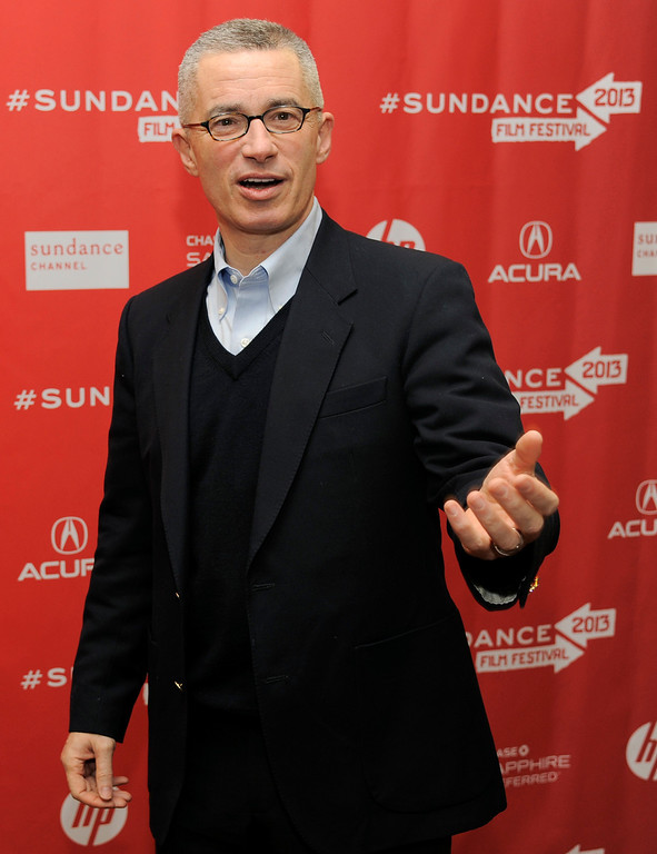 ". Former New Jersey Gov. Jim McGreevey, subject of HBO Documentary Films\' ""Fall to Grace,\"" arrives at a screening of the film at the 2013 Sundance Film Festival, Friday, Jan. 18, 2013, in Park City, Utah. (Photo by Chris Pizzello/Invision/AP)"