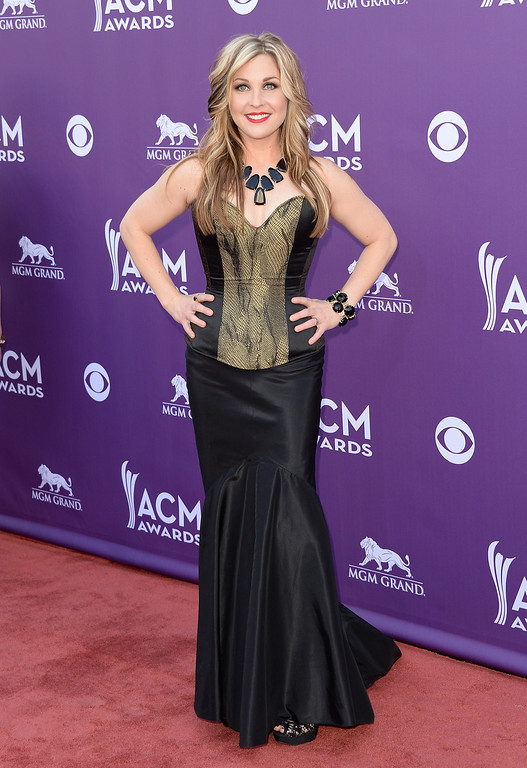 . Recording artist Sunny Sweeney arrives at the 48th Annual Academy of Country Music Awards at the MGM Grand Garden Arena on April 7, 2013 in Las Vegas, Nevada.  (Photo by Jason Merritt/Getty Images)