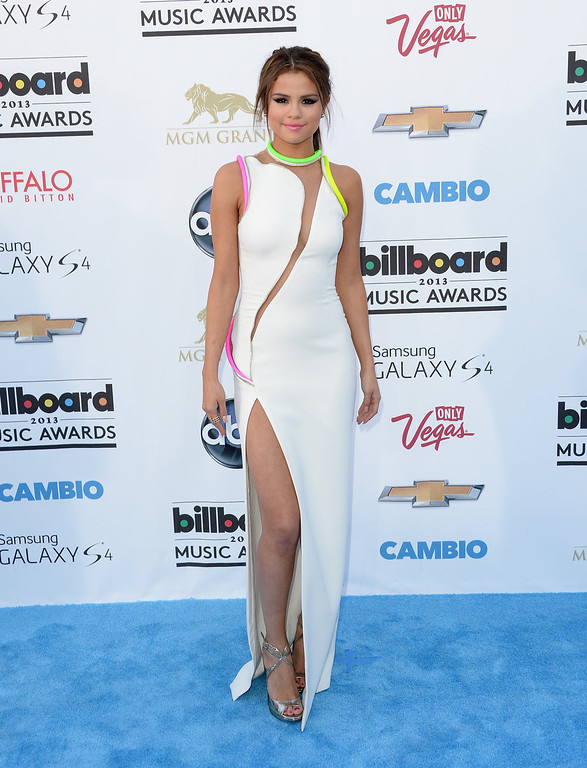 . Actress Selena Gomez arrives at the 2013 Billboard Music Awards at the MGM Grand Garden Arena on May 19, 2013 in Las Vegas, Nevada.  (Photo by Jason Merritt/Getty Images)