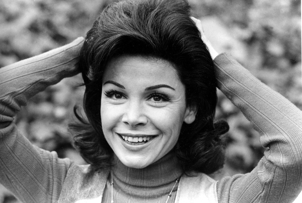 ". Annette Funicello is shown at her home in Encino, Ca., March 13, 1978.  Funicello, 34, was discovered at age 12 to become the 24th and last Mousketeer chosen for the 1950s television show ""Mickey Mouse Club.\""  (AP Photo)"