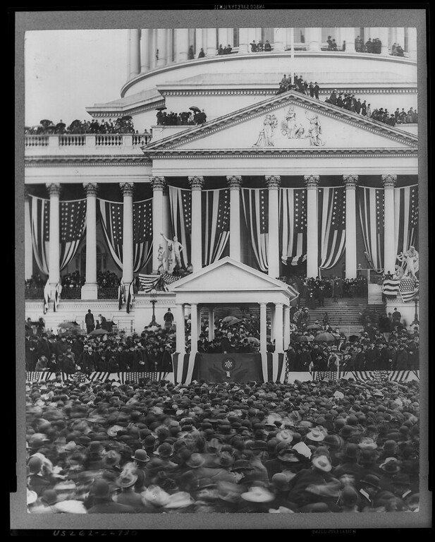 . General scene of President McKinley\'s second inauguration. (Photo from The Library of Congress)