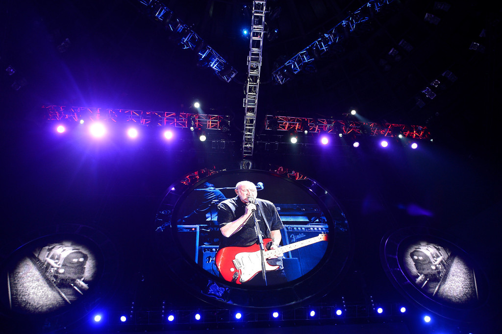 . DENVER, CO. - FEBRUARY 12: The Who performs during their tour stop February 12, 2013 at the Pepsi Center in Denver.  (Photo By John Leyba/The Denver Post)