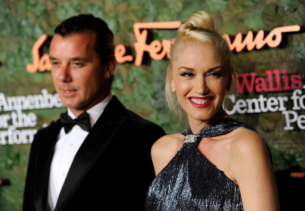 . Musicians Gavin Rossdale, left, and Gwen Stefani arrive at the Wallis Annenberg Center for the Performing Arts Inaugural Gala on Thursday, Oct. 17, 2013, in Beverly Hills, Calif. (Photo by Chris Pizzello/Invision/AP)