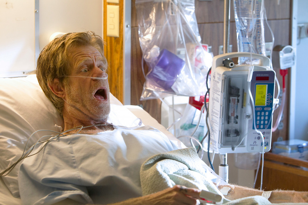 ". This image released by Showtime shows William H. Macy as Frank Gallagher in ""Shameless.\""  Macy was nominated for an Emmy Award for best actor in a comedy on Thursday, July 10, 2014. The 66th Primetime Emmy Awards will be presented Aug. 25 at the Nokia Theatre in Los Angeles. (AP Photo/Showtime, Monty Brinton)"
