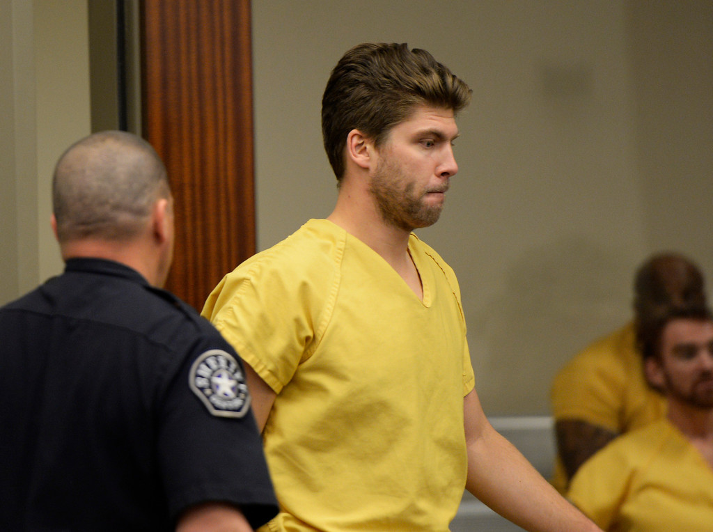 . Semyon Varlamov, starting goaltender for the Colorado Avalanche, appeared in court in Denver on kidnapping and assault charges related to the case, which the woman said happened Monday at their apartment, October 31, 2013. The judge set his bond at $5,000. (Photo By RJ Sangosti/The Denver Post)